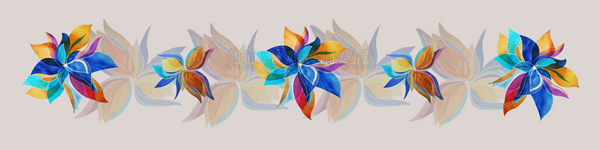 Multi floral variation with shadow