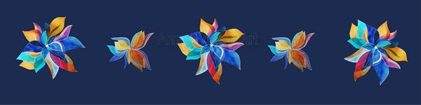 Multi floral variation dark blue