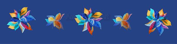 Multi floral variation light blue