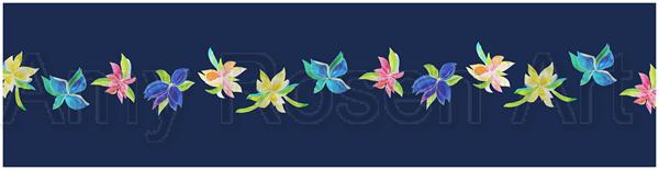 Multi floral dark blue
