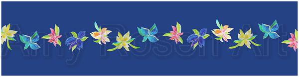 Multi floral   light blue