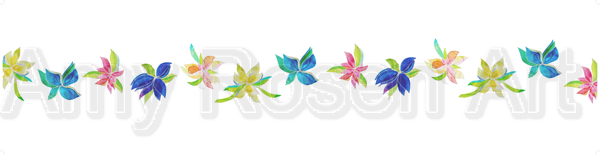 Multi floral white background